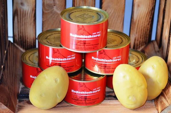 Pferdefleisch mit Kartoffeln / 375 g in der Dose