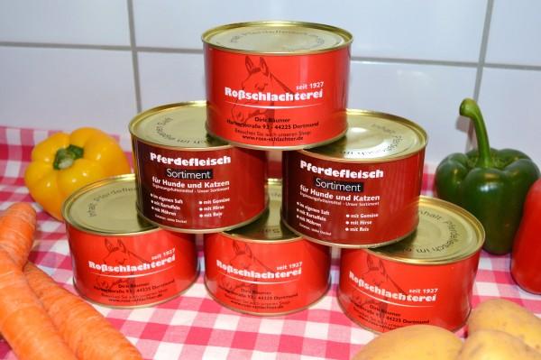 Pferdefleisch im eigenen Saft / Allergiekerfutter 375gr Dose