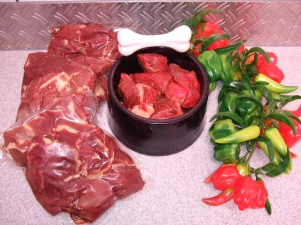 Frischfleisch vom Ross 1 kg Beutel in Stücken
