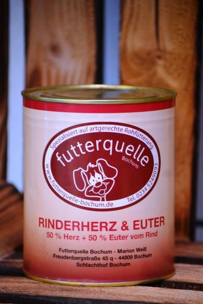 Rinderherz / Eutermix in der 800 g-Dose