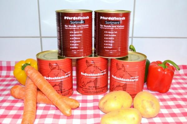 Pferdefleisch im eigenen Saft / Allergiekerfutter 750gr Dose