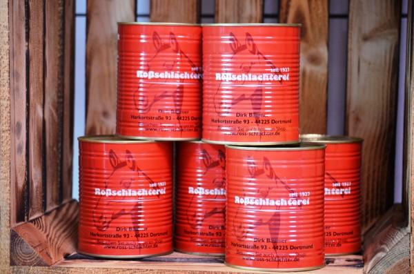 Pferdefleisch im eigenen Saft / pur in der Dose 750 g